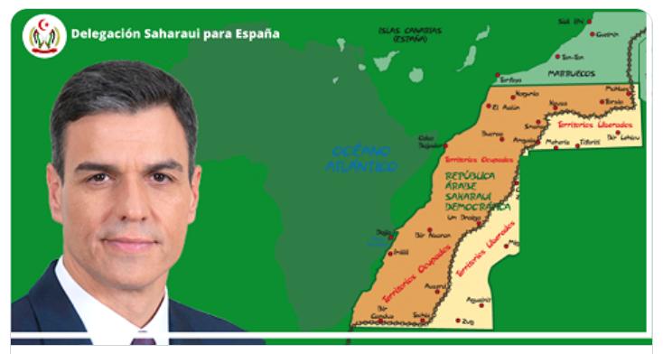 CON MOTIVO DE LA PRESENCIA DEL PRESIDENTE DEL GOBIERNO DE ESPAÑA EN LA CUMBRE DE LOS PAÍSES DEL SAHEL, comunicado de la Delegación Saharaui para España