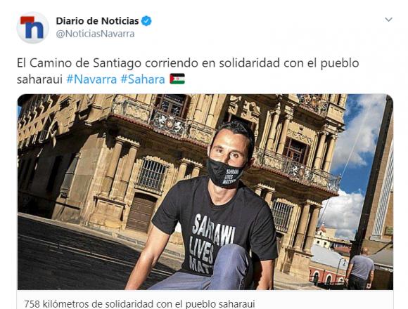 El Camino de Santiago corriendo en solidaridad con el pueblo saharaui #Navarra #Sahara 🇪🇭 – Diario de Noticias de Navarra